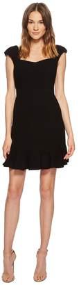 Rebecca Taylor Short Sleeve Stretch Texture Dress Women's Dress