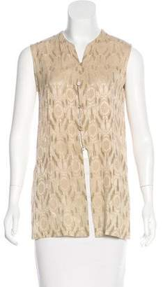 Tahari Sleeveless Embroidered Top