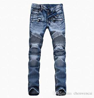 Nothing but Denim Men's Slim Fit Biker Jean with Zipper Accent