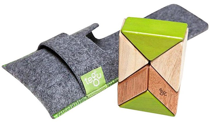 Green Baby Tegu Pocket Pouch Prism Jungle Magnetic Blocks (6 pc)