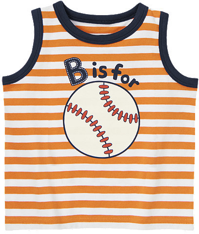 Gymboree Baseball Stripe Tank