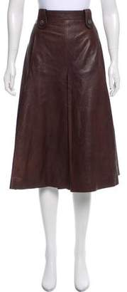 Chanel Paris-Dallas Leather Skirt