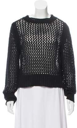 Etoile Isabel Marant Crew Neck Open Knit Sweater