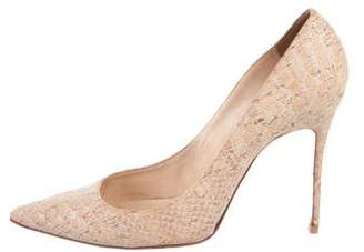 Christian Louboutin Decollete Embossed Cork Pumps