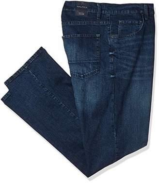 Nautica Men's Big Tall Straight Fit Medium Blue Stretch 5 Pocket Jean
