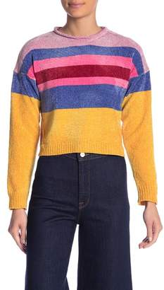 Absolutely Cotton Stripe Chenille Sweater