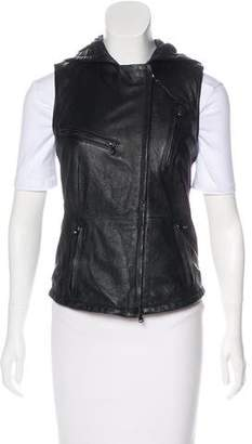 Lot 78 Lot78 Hooded Leather Vest