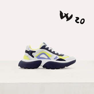 Maje W20 Urban fabric mix sneakers