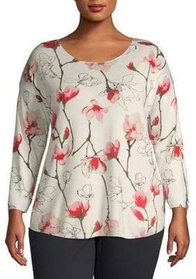 Context Plus Boatneck Printed Top