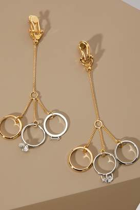 Jil Sander Pendant ring earrings