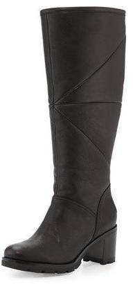 UGG Avery Shearling Knee Boot, Black $350 thestylecure.com