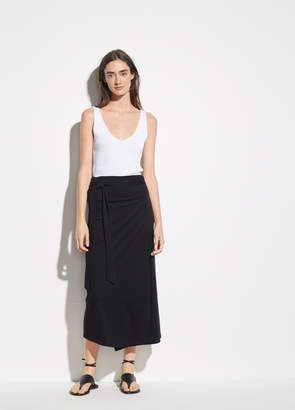 Pima Cotton Wrap Skirt