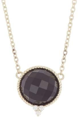Judith Ripka 14K Gold Luna Checkerboard Black Onyx & Diamond Necklace