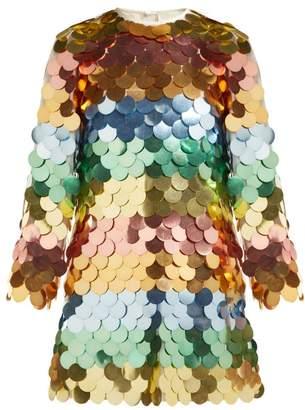 9289b9d75 Sara Battaglia Sequinned Mini Dress - Womens - White Multi