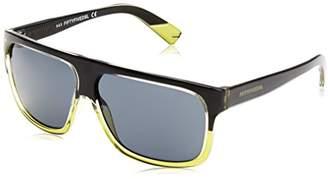 Diesel Men's FF0005 Wayfarer Sunglasses, 05A Shiny Green/Black