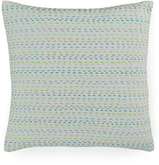 "Bluebellgray Closeout! bluebellgray Melrose Mint Esme Kantha 16"" Square Decorative Pillow Bedding"