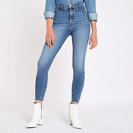 Womens Light Blue Kaia high waisted disco jeans