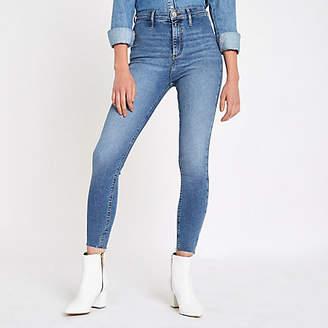 River Island Light blue Kaia high waisted disco jeans