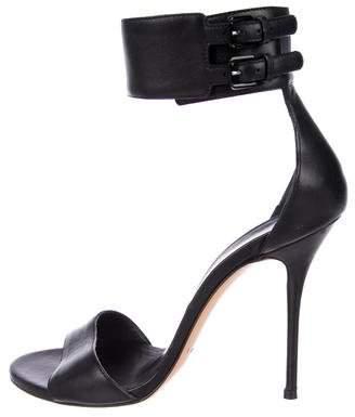 Casadei Leather Cuff Sandals