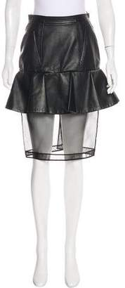 Givenchy Faux Leather Knee-Length Skirt w/ Tags
