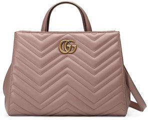 Gucci GG Marmont Small Matelassé Top-Handle Bag $1,890 thestylecure.com