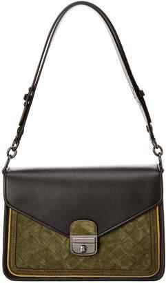 Longchamp Mademoiselle Leather & Suede Shoulder Bag