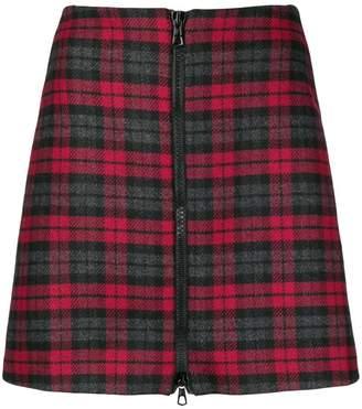 Ultràchic checked zip front skirt