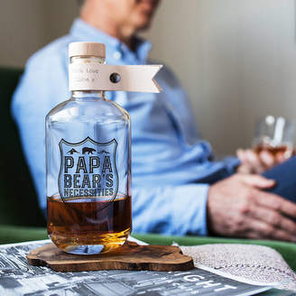 Bread & Jam Personalised Papa Bears Necessities Glass Decanter