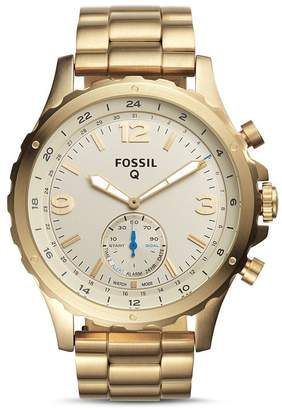 Fossil Nate Hybrid Stainless Steel Smartwatch, 50mm
