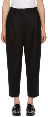 Acne Studios Black Wool Pleated Trousers