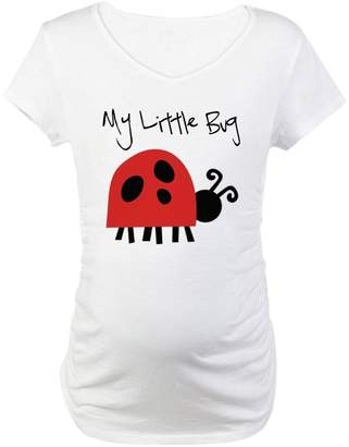 CafePress - My Little Bug - Cotton Maternity T-shirt, Cute & Funny Pregnancy Tee