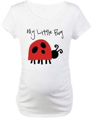 a54302485fd0d CafePress - My Little Bug - Cotton Maternity T-shirt, Cute & Funny Pregnancy