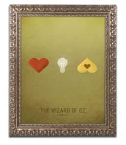 """Trademark Global Christian Jackson 'Oz Kid' Ornate Framed Art - 11"""" x 14"""""""
