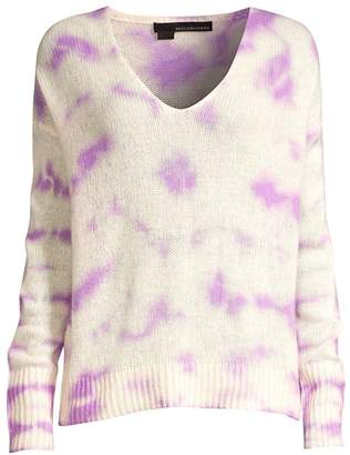 360 Cashmere Itzel Tie-Dyed Knit Cashmere Sweater