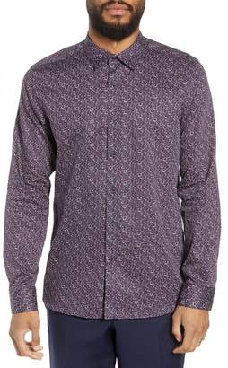 Ted Baker Thornto Floral Print Sport Shirt