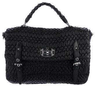 Miu Miu Matelassé Leather Satchel