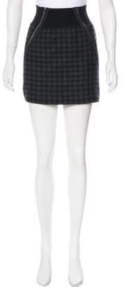 Theory Houndstooth Mini Skirt