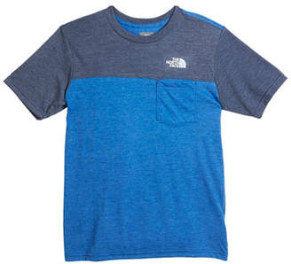 The North Face Tri-Blend Colorblock Pocket Tee, Size XXS-XL