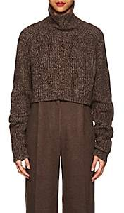 The Row Women's Dickie Cashmere Crop Turtleneck Sweater - Brown