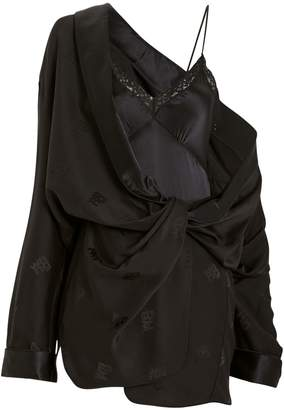 Alexander Wang Silk Jacquard Shirt Dress