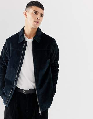 Selected zip through cord jacket
