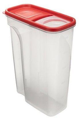 Rubbermaid Flip-Top Cereal and Food Storage Container, 22 Cup/5.2 Liter, Red
