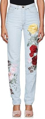 Alice Archer Women's Floral-Embroidered Straight Jeans