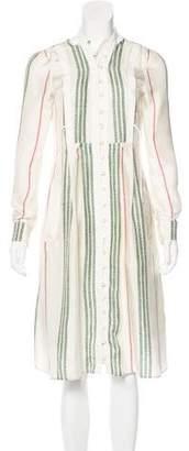 Altuzarra Silk Striped Shirtdress
