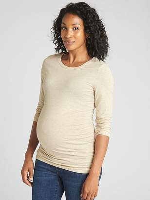 Gap Maternity Pure Body Long Sleeve Solid Crew Tee