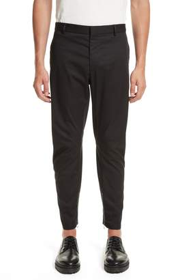Lanvin Round Cut Cotton Biker Pants
