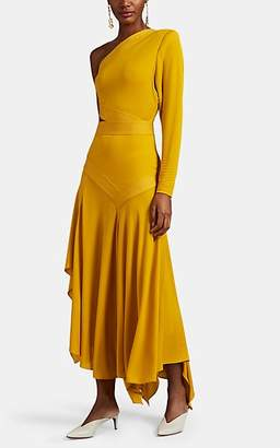 Givenchy Women's Crepe One-Shoulder Asymmetric Dress - Yellow