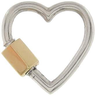Marla Aaron Regular Heart Lock - Sterling Silver and Yellow Gold