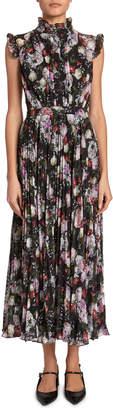 Erdem Roisin Floral Sleeveless Midi Dress