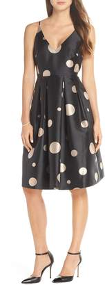 1901 Dot Fit & Flare Party Dress